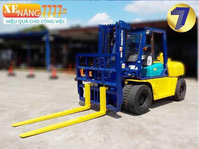 xe nâng dầu 6 tấn, Chiều cao nâng 3m, 4m, 5m, 6m, Xe nâng chui container